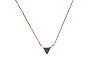 Náhrdelníky - Náhrdelník Rose Necklace Triangle - 11182069_