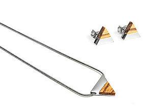 Náušnice - Earrings & Necklace Lini Set - 11182159_