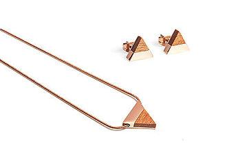 Náušnice - Earrings & Necklace Rea Set - 11182187_