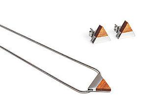 Náušnice - Earrings & Necklace Red Set - 11182188_