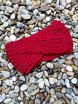 Ozdoby do vlasov - Červená čelenka prekrížená - 11184850_