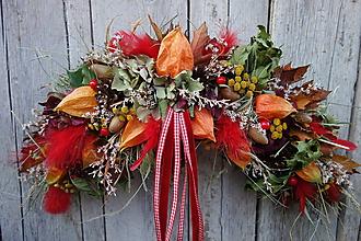 Dekorácie - Jesenná dekorácia na dvere - 11184820_