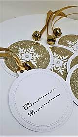Drobnosti - Vianočné výsačky na darčeky - 11182685_