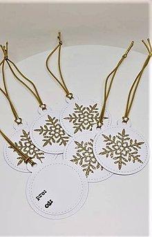 Drobnosti - Vianočné výsačky na darčeky - 11182668_