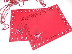 Úžitkový textil - Chvíľa vianočná (ručne vyšívané prestieranie) - 11182615_