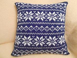Úžitkový textil - Vankúš s norskym vzorom - 11185078_