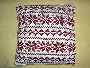 Úžitkový textil - Vankúš s nórskym vzorom - 11185089_