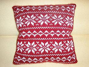 Úžitkový textil - Vankúš s nórskym vzorom - 11185106_