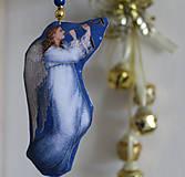 Dekorácie - Anjel - vianočná ozdoba, dekorácia (P) - 11185359_