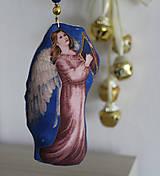 Dekorácie - Anjel - vianočná ozdoba, dekorácia (P) - 11185386_