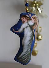 Dekorácie - Anjel - vianočná ozdoba, dekorácia - 11185410_