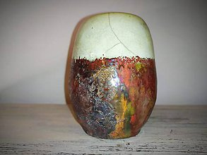Nádoby - Keramická nádoba-raku - 11182120_
