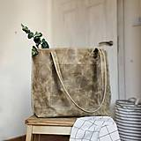 Kožená kabelka Lisa (hnedo-béžová)