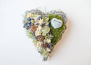 Dekorácie - Dušičkové srdce - 11185442_