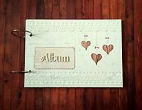 Papiernictvo - Fotoalbum svadobný * kniha hostí A5 - voliteľný nápis - 11182810_