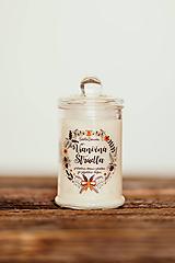 Svietidlá a sviečky - Sviečka zo sójového vosku v skle - Vianočná Štrúdľa 125g/30hod (sviečka) - 11182633_