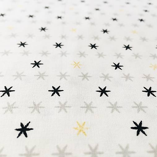 hviezdičky so zlatotlačou, 100 % bavlna Francúzsko, šírka 150 cm