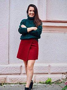 Sukne - Recyklovaná zavinovacia sukňa - 11185607_