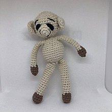 Hračky - háčkovaná opička - 11182324_