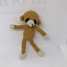 Hračky - háčkovaná opička, aj pre bábätko - 11182327_