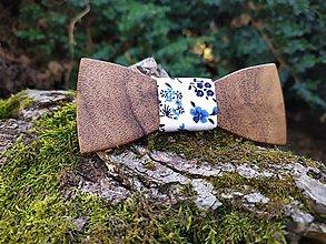 Doplnky - Pánsky drevený motýlik - 11183545_