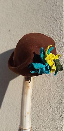 Čiapky - Baret, klobúk Maceška - 11181444_