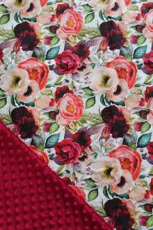 Textil - Minky deka Romance, 9 farieb na výber,100x70cm,  (Bordová) - 11183989_