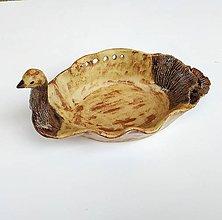 Nádoby - Keramická miska -Vtáčik - 11182534_