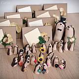 Darčeky pre svadobčanov - Ježkovia personalizovaní s 2 doplnkami - darčeky pre hostí/menovky - 11183402_