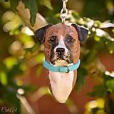 Kľúčenky - Kríženec Cane Corso - kľúčenka, prívesok podľa fotografie psa - 11183443_