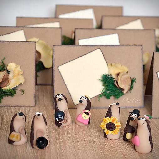 Ježkovia personalizovaní s 2 doplnkami - darčeky pre hostí/menovky