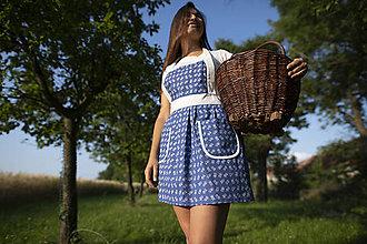Iné oblečenie - DÁMSKÁ ZÁSTĚRA - MODROTISK - 11184808_