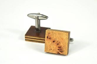 Šperky - Manžetové gombíky - topolová korenice, nerez - 11184803_