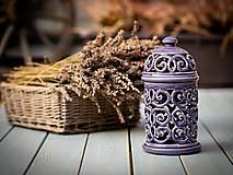 Svietidlá a sviečky - Aromalampa levandulová - 11184342_