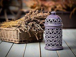 Svietidlá a sviečky - Aromalampa levandulová - KVĚT ŽIVOTA - 11184304_