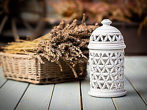 Svietidlá a sviečky - Aromalampa rustik - KVĚT ŽIVOTA - 11184352_