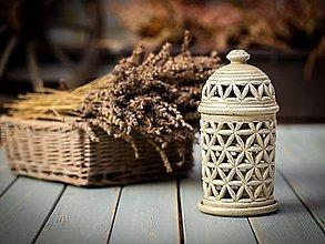 Svietidlá a sviečky - Aromalampa šedá - KVĚT ŽIVOTA - 11184366_
