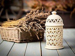 Svietidlá a sviečky - Aromalampa ecru - KVĚT ŽIVOTA - 11184386_