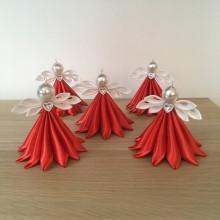Dekorácie - Anjelik červený veľký - 11183407_