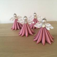 Dekorácie - Anjelik tm. ružový veľký - 11183412_