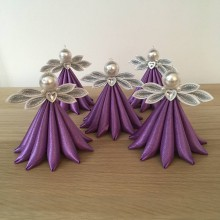 Dekorácie - Anjelik fialový veľký - 11183419_