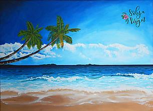 Obrazy - Pláž - Akrylová maľba - 11183220_