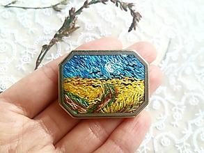 """Odznaky/Brošne - Ručne vyšívana brošňa """"Van Gogh"""" Poštovné ZDARMA - 11185036_"""