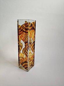 Dekorácie - Sklenená váza maľovaná - abstrakt - 11183221_