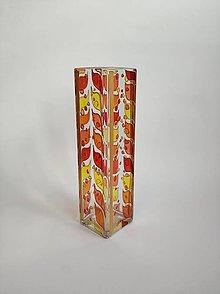 Dekorácie - Sklenená váza maľovaná - slzy - 11183242_