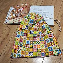 Detské tašky - Vak na hračky (Kvietky) - 11185150_