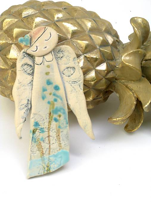 anjel dlhy tyrkysový  (Biela modrá)