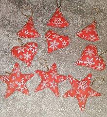 Iné doplnky - Šité vianočné ozdoby - mix - 11184473_