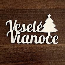 Dekorácie - Veselé Vianoce stromček - 11183463_