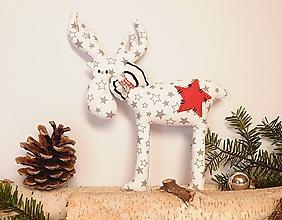 Dekorácie - Vianočný sobík - hviezdičkavý - 11183203_